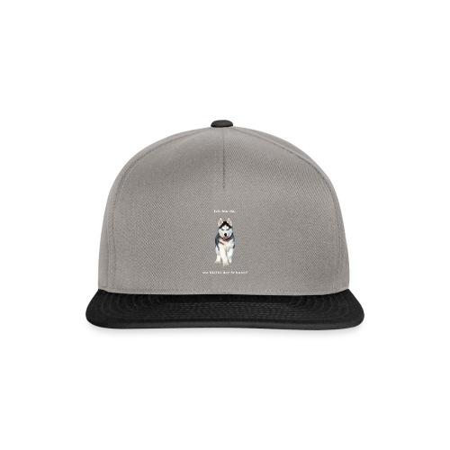 Husky Welpen mit bezaubernden Augen - Snapback Cap