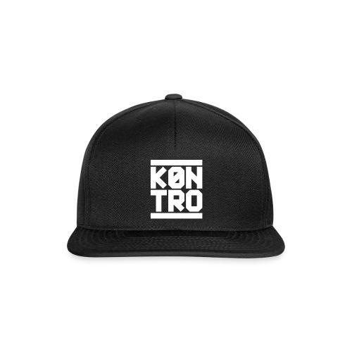 KONTRO White Logo - Snapback Cap
