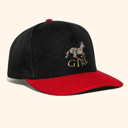 unicorn girl T-shirt - Snapback Cap