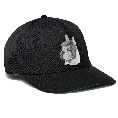 French Bulldog w/beret - Snapback Cap