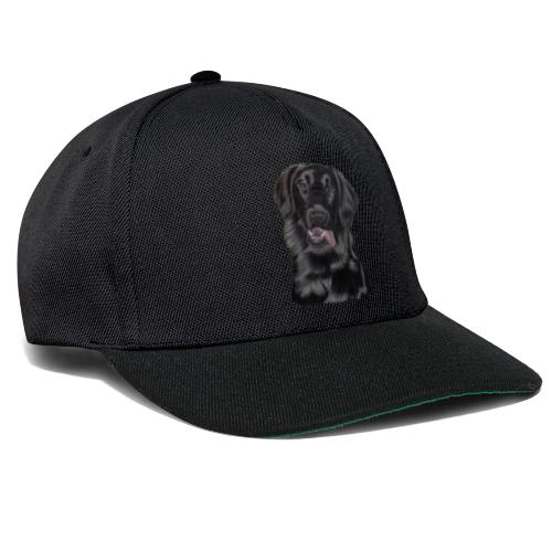 flatcoated retriever pastels - Snapback Cap