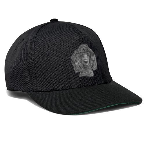 poodle-black-P - Snapback Cap