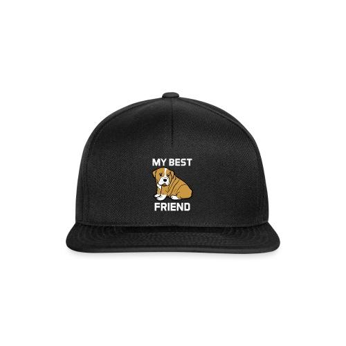My Best Friend - Hundewelpen Spruch - Snapback Cap