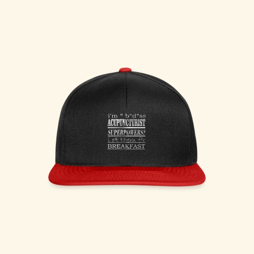 ACUPUNCTURIST - Snapback Cap