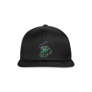GREEN TRACTOR white border - Snapback cap