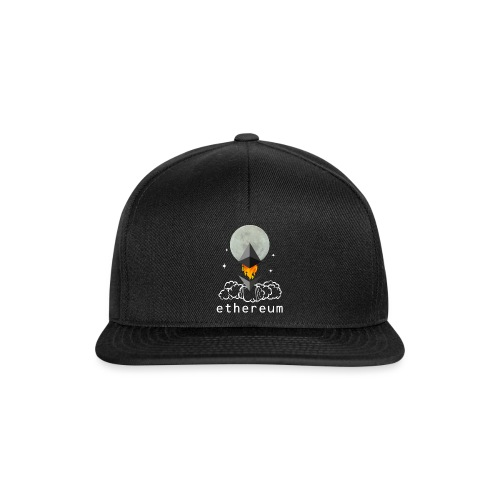 Ethereum Cryptocurrency To The Moon - Snapback Cap