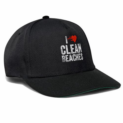 I Love Clean Beaches Shirt Save the Planet Shirt - Snapback Cap