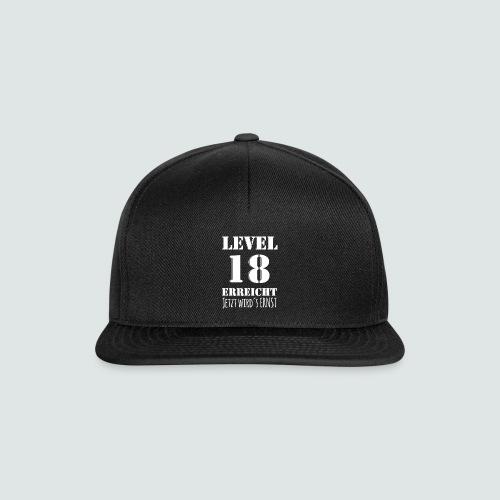 18er Geburtstag - LEVEL 18 ERREICHT - MOTIV - Snapback Cap