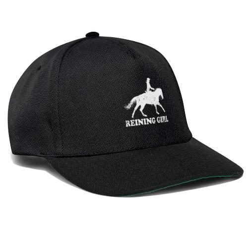 Westernreiter Reining Pferd und Reiter Silhouette - Snapback Cap