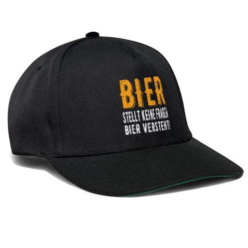 Bier stellt keine Fragen Bier verteht Vintage - Snapback Cap