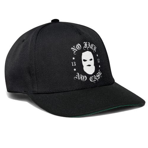 No Face, No Case - Skimask - valkoinen printti - Snapback Cap