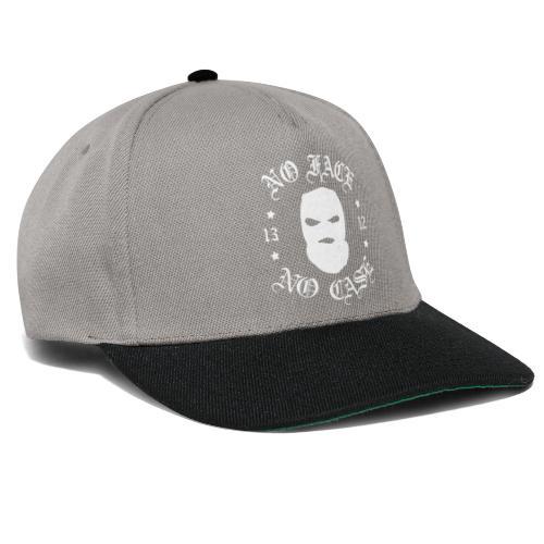No Face, No Case - Skimask - valkoinen iso printti - Snapback Cap