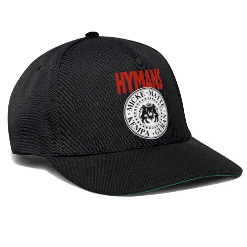 Hymans Red White Black logo - Snapbackkeps