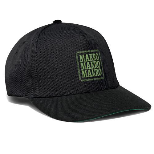 Wort Makro Makrofotografie Nahaufnahme mit Muster - Snapback Cap