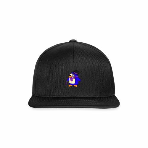 Cute Posh Purple Violet Penguin - Snapback Cap
