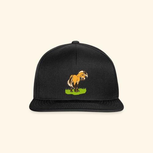 Freundliches Fjordpferd (Ohne Text) Weisse Umrisse - Casquette snapback