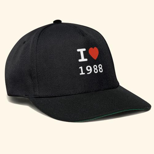 I Love 88 w p 001 - Snapback Cap