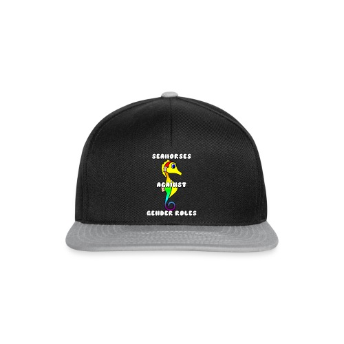 Seahorses against gender roles - Snapback Cap