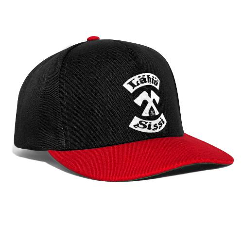 Lähiösissi - valkoinen printti - Snapback Cap