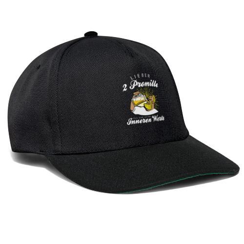 Lustiger Spruch - Lieber 2 Promille - Snapback Cap