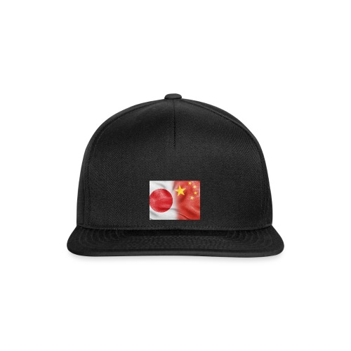japan china flag - Snapback Cap