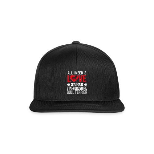 STAFFORDSHIRE BULLTERRIER-LOVE - Snapback Cap
