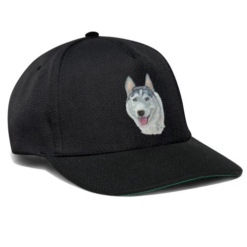 siberian husky_blueeyes - Snapback Cap