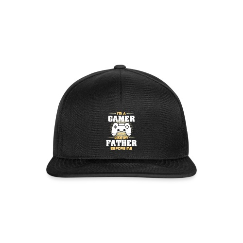 Gamer wie mein Vater Zocker Design & Geschenk - Snapback Cap