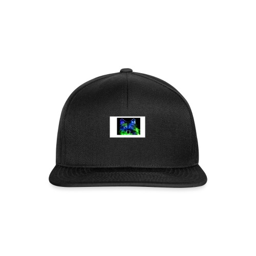 green and blue wolf - Snapback Cap