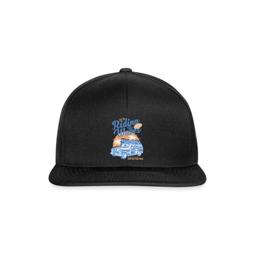 Riding The Waves Vintage Style - Snapback Cap