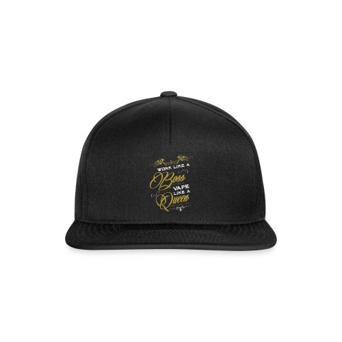 Work like a boss, vape like a Queen - Dampfen - Snapback Cap