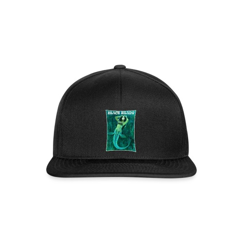 Vintage Pin-up Beach Ready Mermaid - Snapback Cap