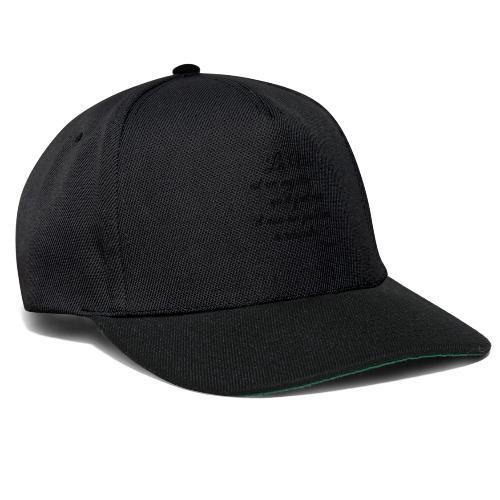 La vie et cest mysteres - Snapback Cap