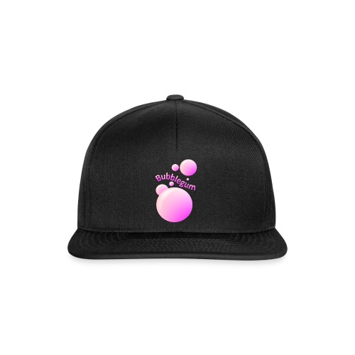 bubblegum glansig text och stora rosa bubblor - Snapback Cap