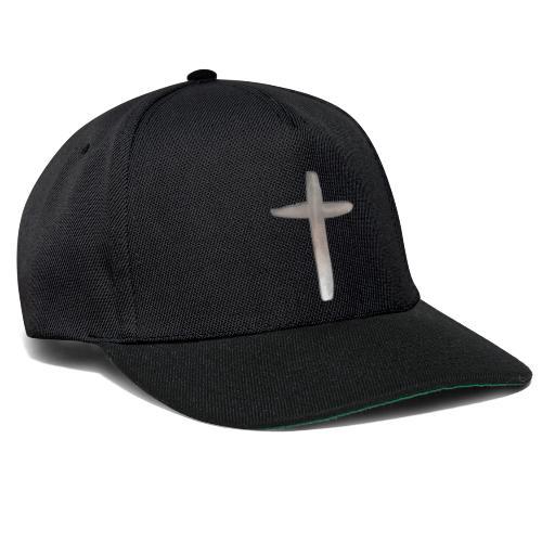Einfaches Kreuz - Snapback Cap