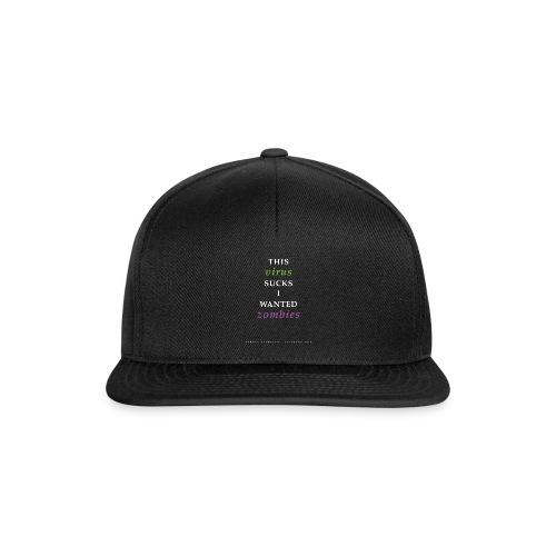 Corona Virus Zombie Lockdown 2020 - Snapback cap