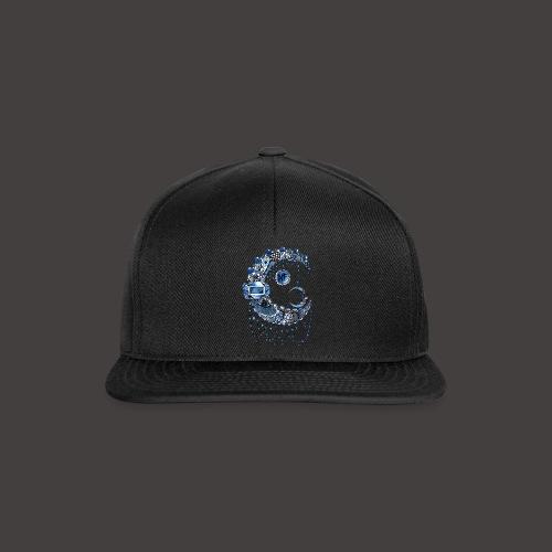 Lune dentelle bleue fonce - Casquette snapback