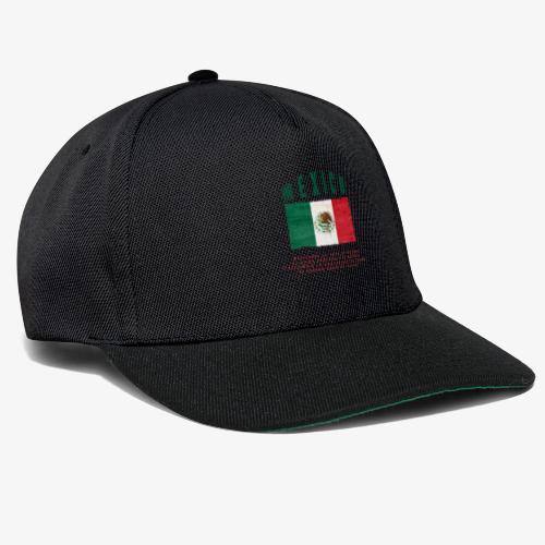 Mexican Flag Bandera Mexico - Snapback Cap