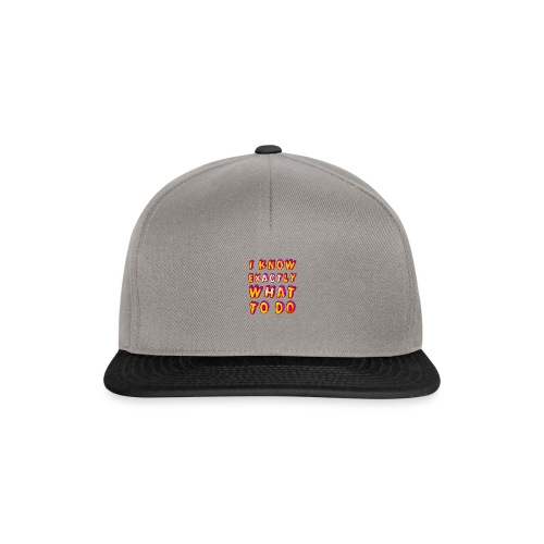I know exactly what to do - Snapback Cap