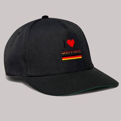 I love Germany - Ich liebe Deutschland - Snapback Cap