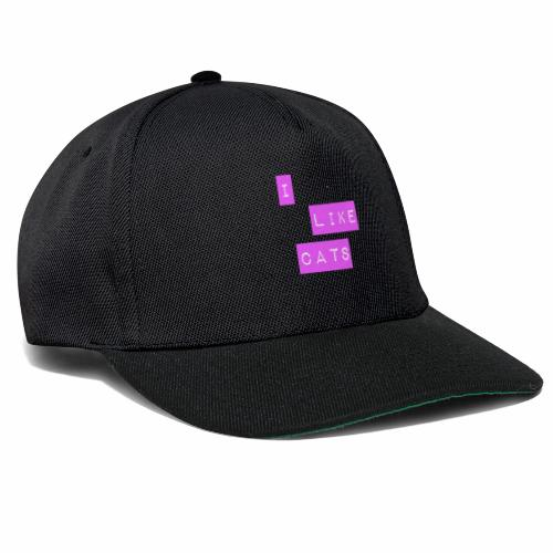 I like cats - Snapback Cap