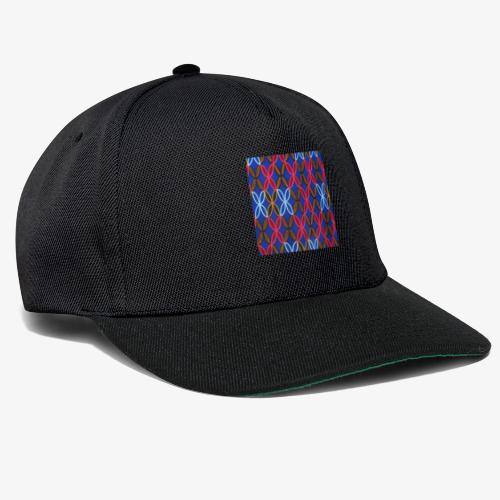 Design motifs bleu rose orange marron - Casquette snapback