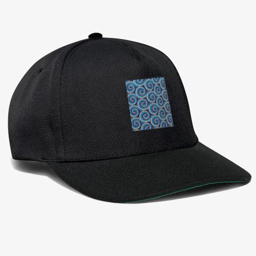 Spirales au motif bleu - Casquette snapback
