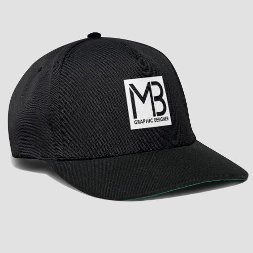Logo MB Graphic Designer White - Snapback Cap