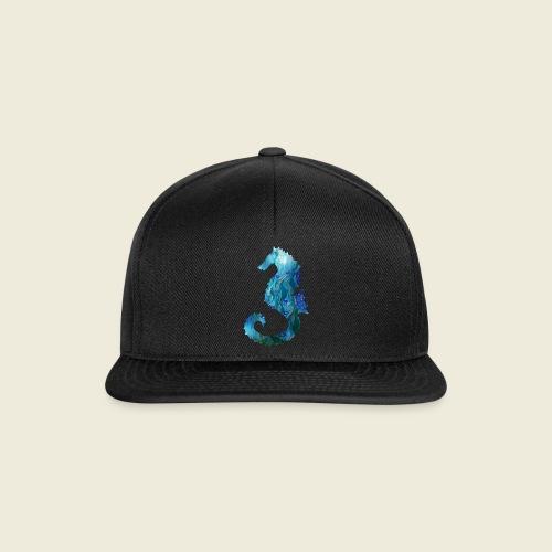 Seepferdchen blau türkis Kunst - Snapback Cap