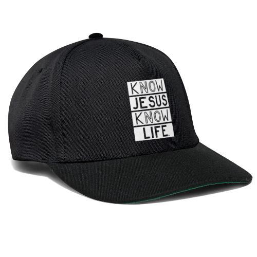 Know Jesus Know Life - Snapback Cap