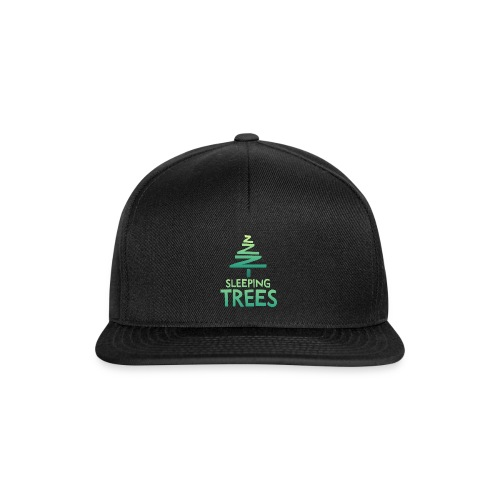 SleepingTrees Colour DarkBackground png - Snapback Cap