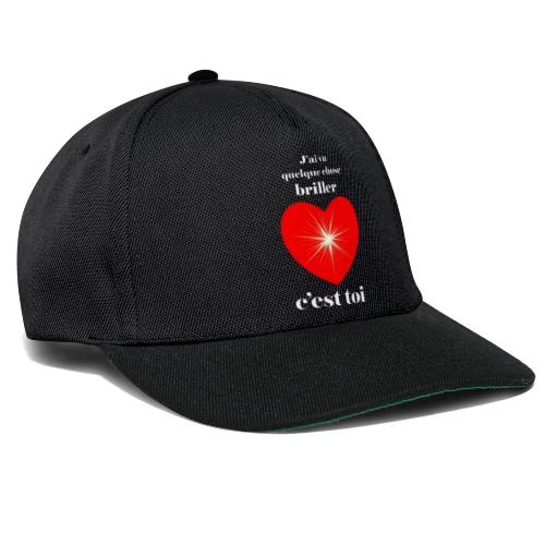 Coeur brillant ...amoureux ou inspiré FS - Casquette snapback