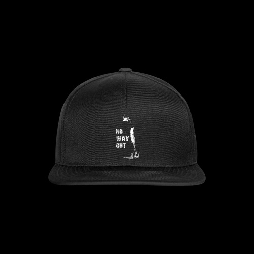Four Letters Shirt No Way Out weiss - Snapback Cap