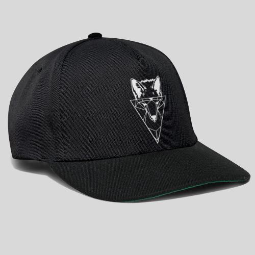 Fuchs Geometrie weiß - Snapback Cap